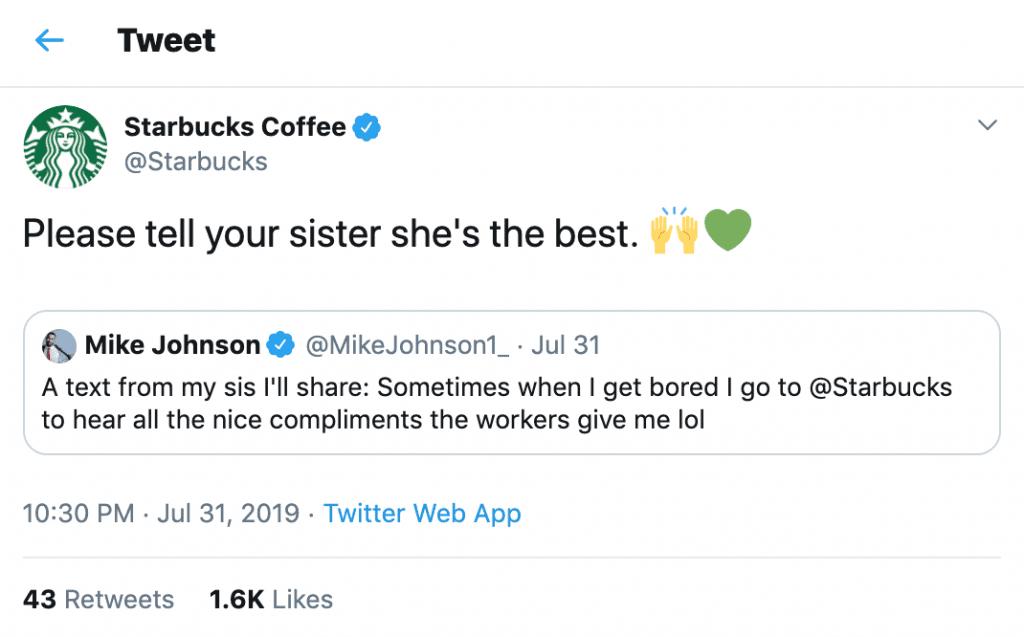 Starbucks social media
