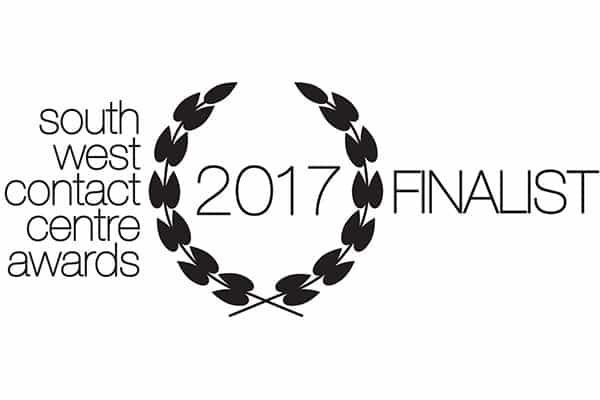 South West Contact Centre Awards 2017 Finalist